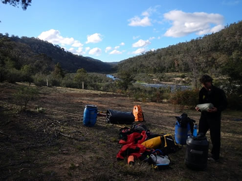 Snowy River Burnt Hut Crossing Campsite. Copyright Jolyon Taylor 2014. All Rights Reserved.