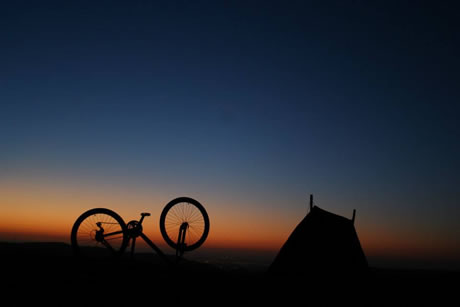MTB Sunset. Copyright Wilderness Escape 2016. All rights reserved.