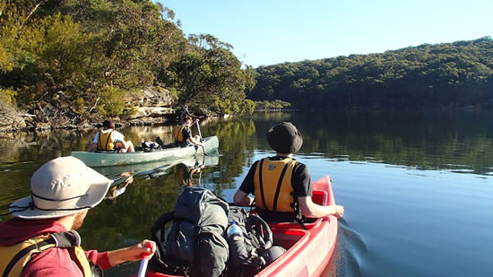 Canoeing. Copyright TAFE NSW Loftus 2017. All rights reserved.