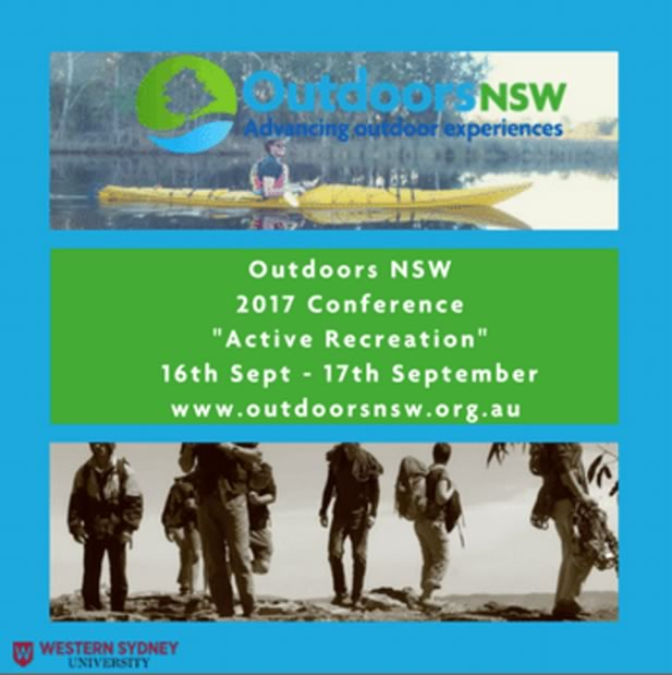 Outdoors NSW 2017 Active Recreation Conference --- 16th September to 17th September, 2017