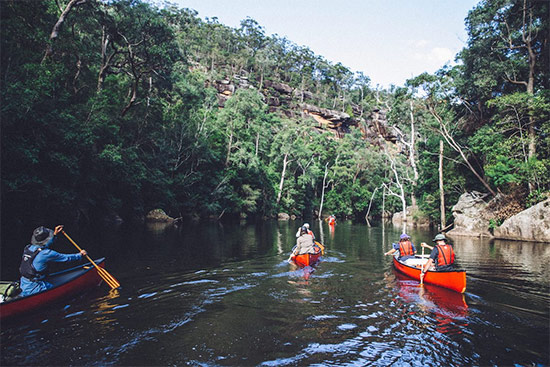 Canoeing. Copyright TAFE NSW 2019. All rights reserved.