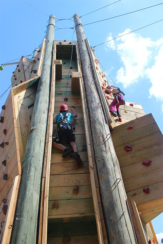 Climbing Wall. Copyright Licola Wilderness Village 2019. All rights reserved.