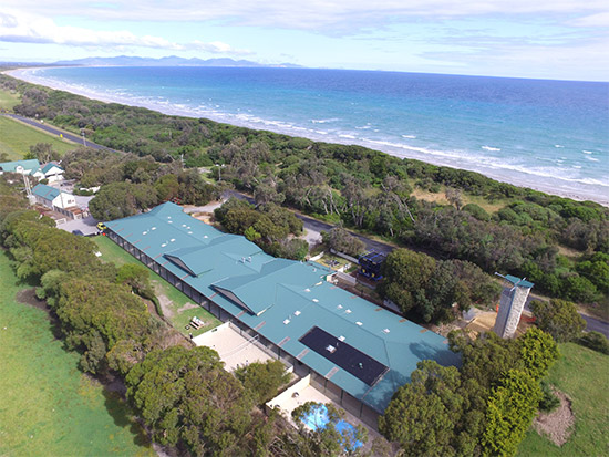 Camp Aerial Shot. Copyright Waratah Beach Camp 2019. All rights reserved.