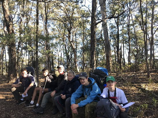 Bushwalking. Copyright Barker College 2020. All rights reserved.