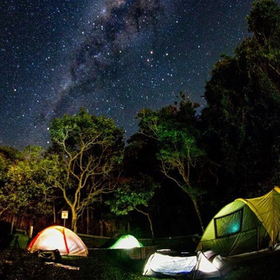 Tents under the stars. Copyright CYC 2020. All rights reserved.
