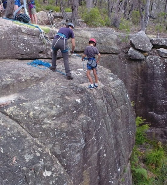 Abseiling. Copyright Scouts NSW 2020. All rights reserved.