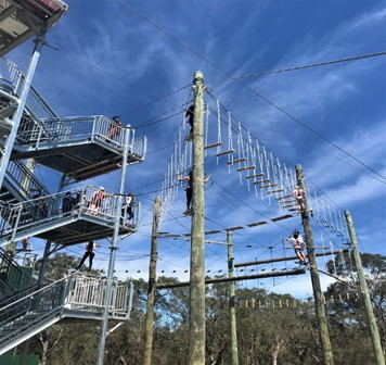 High Ropes. Copyright Nepean Adventure Centre 2020. All rights reserved.