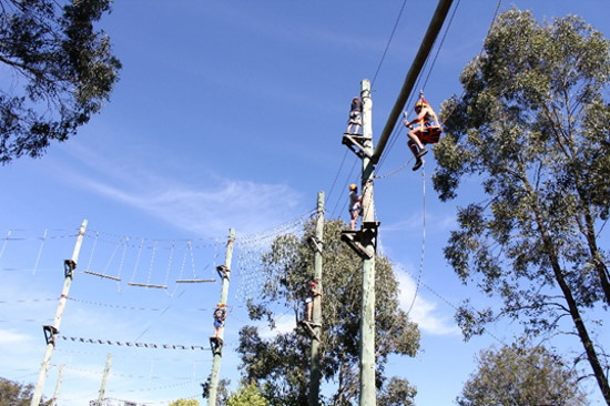 High Ropes. Copyright Outdoor Education NSW 2020. All rights reserved.