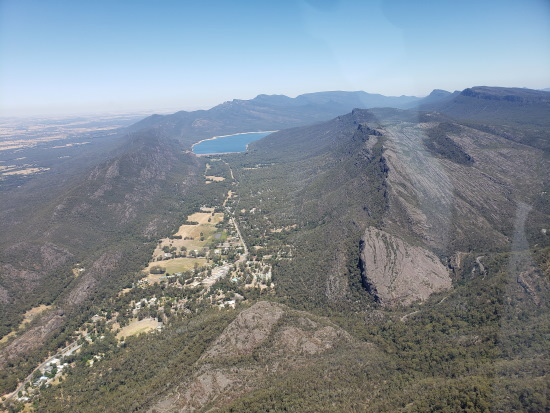 Halls Gap from the air. Copyright UC Camping 2020. All rights reserved.