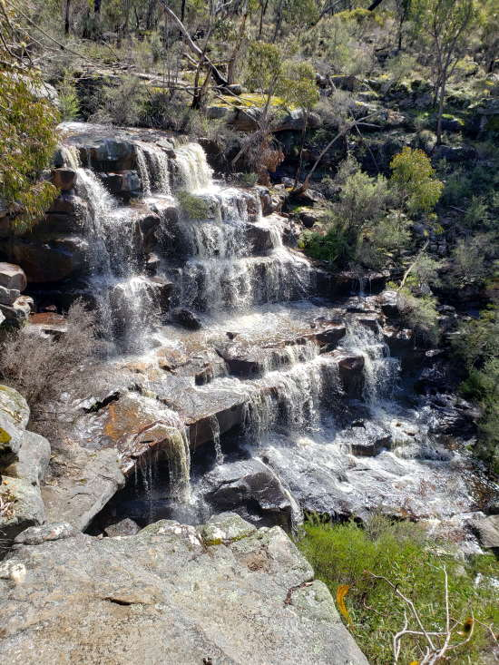 Halls Gap Waterfall. Copyright UC Camping 2020. All rights reserved.