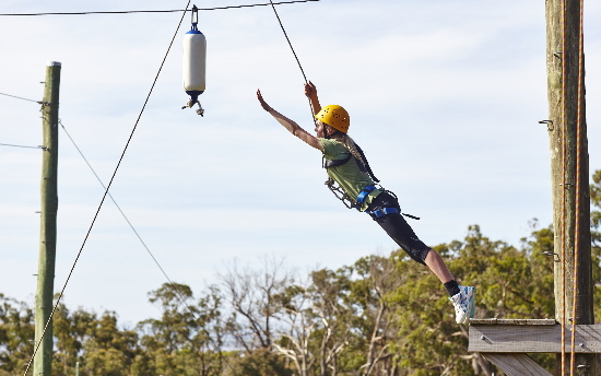 High Ropes Leap. Copyright UC Camping 2020. All rights reserved.