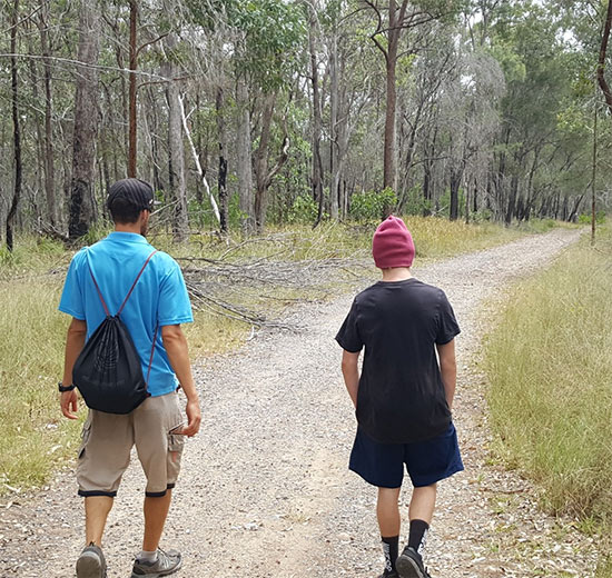 Bushwalking. Copyright Youth Flourish Outdoors 2020. All rights reserved.