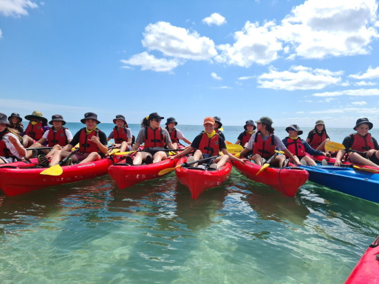 Sea Kayaking. Copyright AdventureWorks WA 2021. All rights reserved.