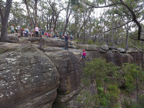 Abseiling. Copyright Scouts NSW 2021. All rights reserved.