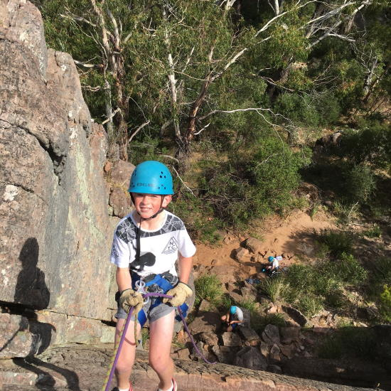 Abseiling. Copyright UC Camping 2021. All rights reserved.